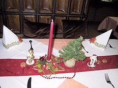 table decoration for christmas